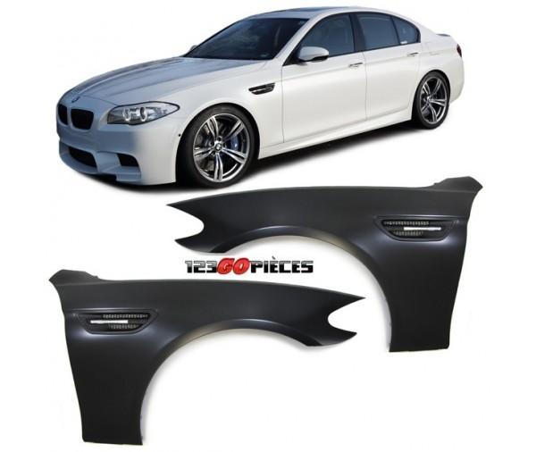kit ailes avants droite gauche design m5 bmw s rie 5 f10 f11 2010. Black Bedroom Furniture Sets. Home Design Ideas