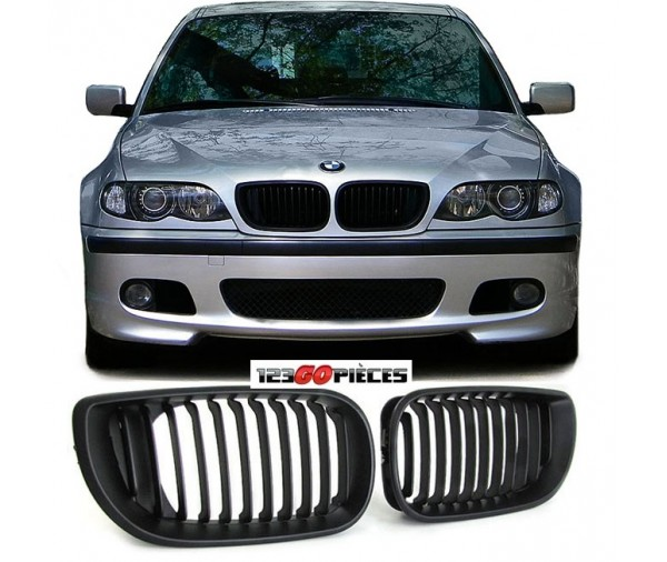 grilles de calandre noir pour bmw e46 berline touring 2001 2005 59 90 pi ces design pi ces. Black Bedroom Furniture Sets. Home Design Ideas
