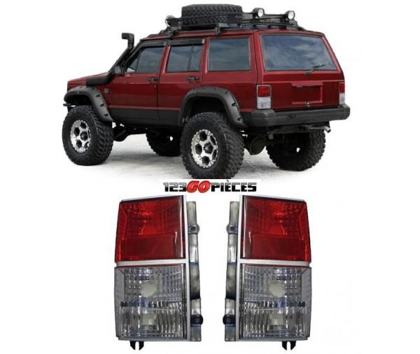 paire de feux arri res rouge blanc jeep cherokee xj 1984 1996 99 90 pi ces de rechange pi ces. Black Bedroom Furniture Sets. Home Design Ideas