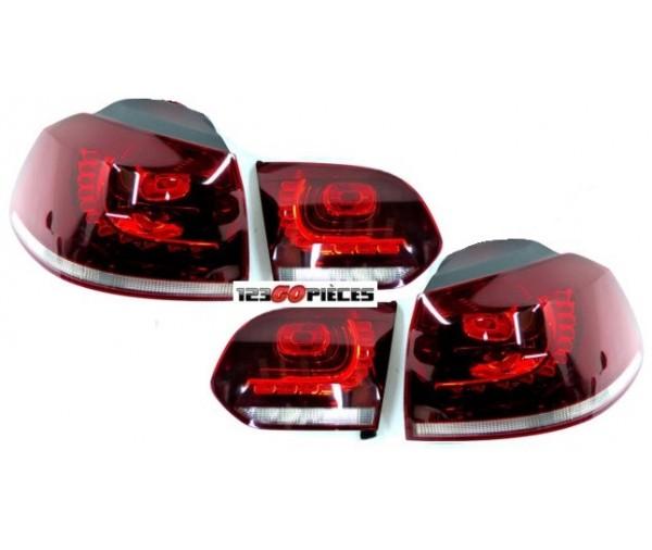 feux arri res led rouge blanc look gti gtd volkswagen golf. Black Bedroom Furniture Sets. Home Design Ideas