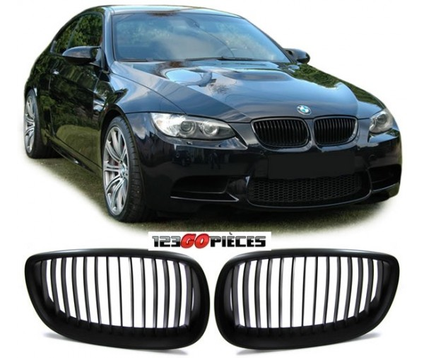 grilles de calandre design m3 noir mat bmw e92 e93 2006 02 2010 74 90 pi ces design pi ces. Black Bedroom Furniture Sets. Home Design Ideas