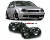 Paire de phares design fond noir Volkswagen GOLF 4 1997-2003