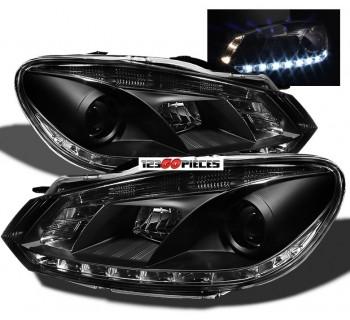 paire de phares led fond noir pour volkswagen golf 6 2008 2012 479 90 pi ces design pi ces. Black Bedroom Furniture Sets. Home Design Ideas