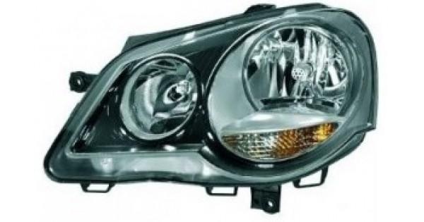 phare gauche conducteur noir volkswagen polo gti 2005 2009 109 90 pi ces de rechange. Black Bedroom Furniture Sets. Home Design Ideas