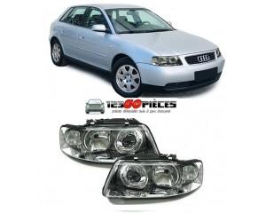 Paire de phares avants H7+H1 pour Audi A3 (8L) 10/2000 au 05/2003