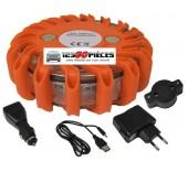 gyrophare plot balise de sécurité routière LED orange rechargeable