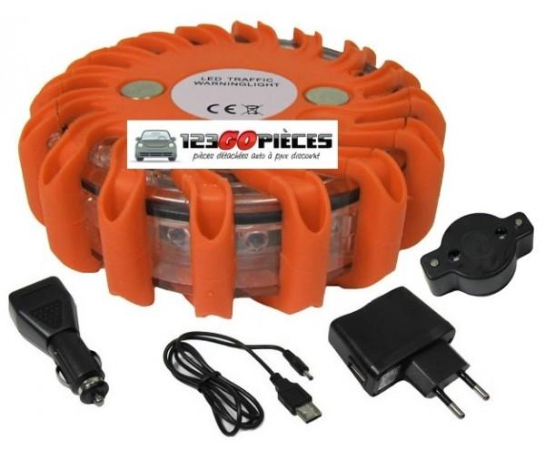 promo gyrophare plot balise de s curit routi re led orange rechargeable 29 90 autres pi ces. Black Bedroom Furniture Sets. Home Design Ideas