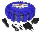 gyrophare LED bleu plot balise sécurité routière rechargeable