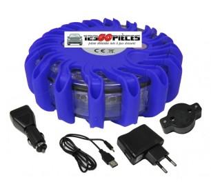 promo gyrophare led bleu plot balise s curit routi re rechargeable 29 90 autres pi ces auto. Black Bedroom Furniture Sets. Home Design Ideas