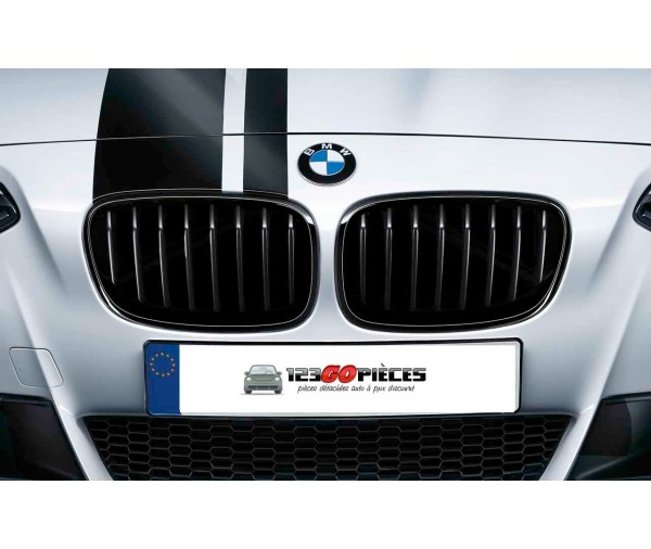 grilles de calandre noir brillant look m bmw serie 1 f20 2011 03 2015 79 90 pi ces design. Black Bedroom Furniture Sets. Home Design Ideas