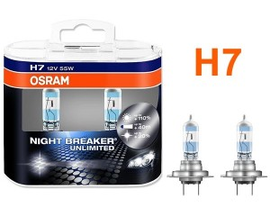 Pack 2 Ampoules H7 Osram Night Breaker Unlimited 55w 12v