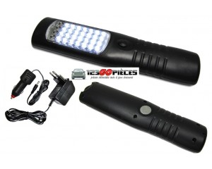 lampe torche LED multifonctions rechargeable 12/220v