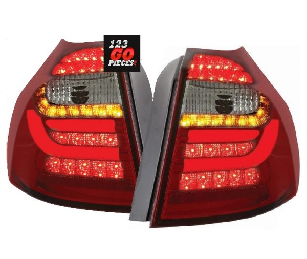 paire de feux led rouge noir pour bmw s rie 1 e87 2004. Black Bedroom Furniture Sets. Home Design Ideas