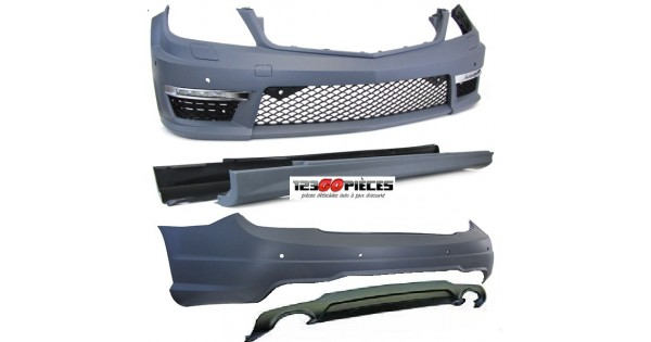 kit carrosserie look c63 amg pour mercedes classe c w204 2011 2014 1 290 90 pi ces design. Black Bedroom Furniture Sets. Home Design Ideas