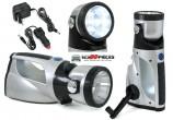 Lampe Torche LED Dynamo Rechargeable 12V-220V - GO21218