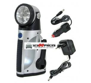 Lampe Torche LED Dynamo Rechargeable 12V-220V