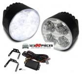 feux de jour LED diurnes Rond 2 X 4 LEDs 6000k montage universel