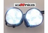Kit feux de jour LED diurnes Rond 2 X 4 LED 6000k montage universel