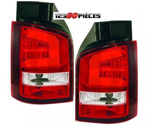 feux arri res led rouge blanc volkswagen t5 multivan hayon 2003 2009 299 90 pi ces design. Black Bedroom Furniture Sets. Home Design Ideas