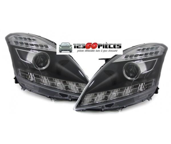 2000 Suzuki Swift Suspension: Paire De Phares LED Design Noir/chrome Pour Suzuki SWIFT