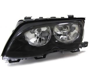 Phare avant gauche (conducteur) noir H7+H7 BMW serie 3 E46 2001-2005 - GO1215087