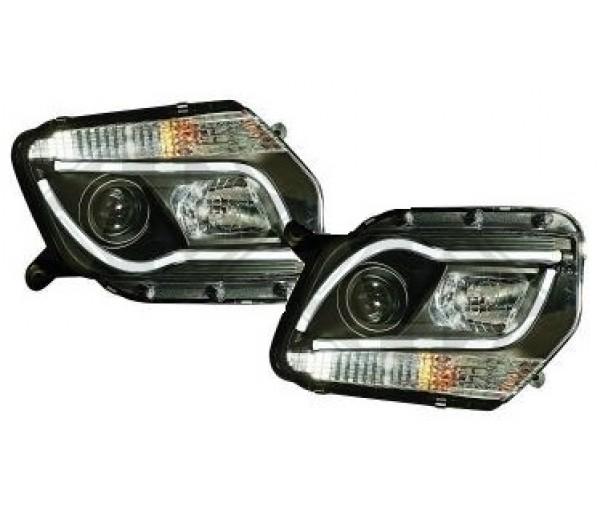 paire de phares led design noir dacia duster 2011 2014 389 90 pi ces design pi ces auto neuves. Black Bedroom Furniture Sets. Home Design Ideas
