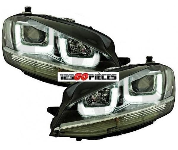 paire de phares led design gtd volkswagen golf 7 2012 589 90 pi ces design pi ces auto. Black Bedroom Furniture Sets. Home Design Ideas