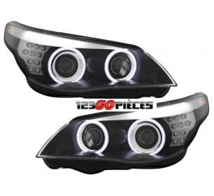Paire de phares XENON  D2S+H7 Look F10 Bmw série 5 E60/61 2003-2004 - GO1224880
