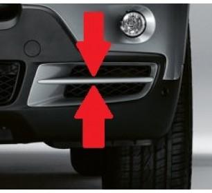 enjoliveur grille de pare-chocs avant gauche (gris) BMW X5 (E70) 2007-2010 - GO1291053
