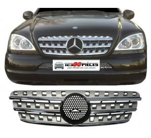 grille de calandre gris/chrome pour Mercedes ML W163 1998-2005 >> look W164  - GO1690340
