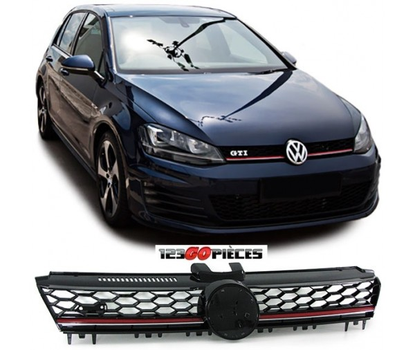 grille de calandre look gti volkswagen golf 7 2012 2017 84 90 pi ces design pi ces auto neuves. Black Bedroom Furniture Sets. Home Design Ideas