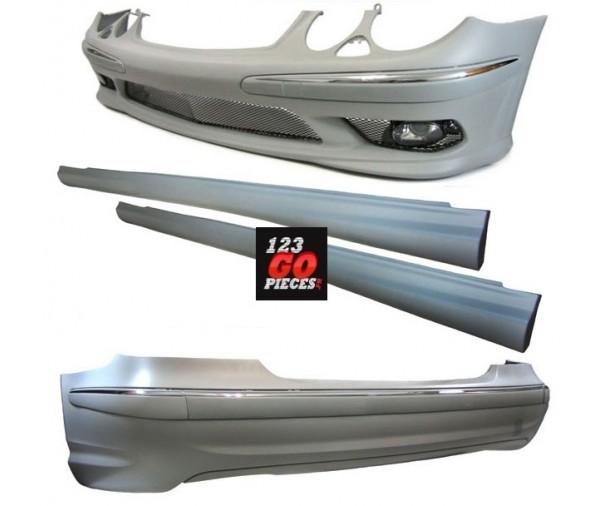 kit carrosserie design e55 amg mercedes classe e w211 2002 2006 999 90 pi ces design pi ces. Black Bedroom Furniture Sets. Home Design Ideas