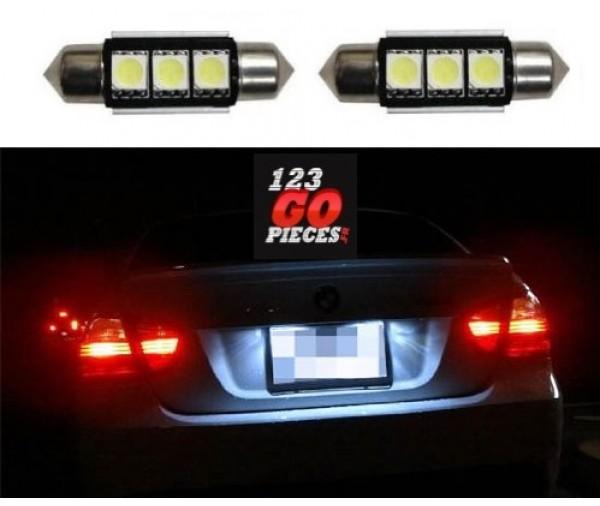 2 ampoules navette led c5w 36mm canbus anti erreur 8000k 17 90 int rieur pi ces auto neuves. Black Bedroom Furniture Sets. Home Design Ideas