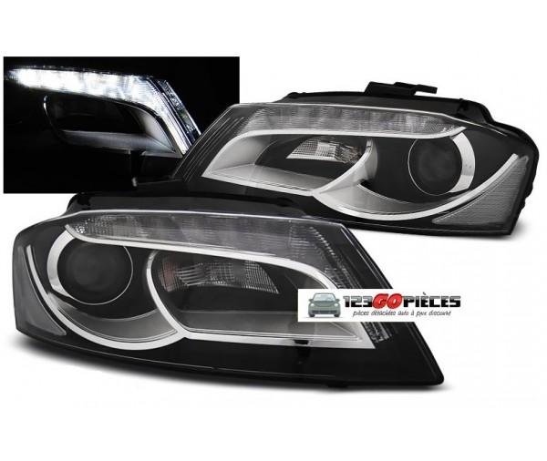 paire de phares led h7 h7 design xenon audi 8p a3 2008. Black Bedroom Furniture Sets. Home Design Ideas