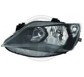 phare droit (passager) H7+H7 (fond noir) Seat IBIZA 2012->>