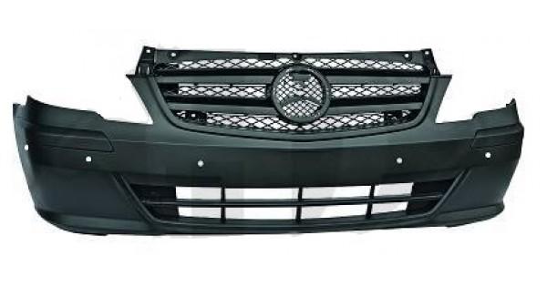 pare chocs avant noir radars mercedes vito 10 2010 au. Black Bedroom Furniture Sets. Home Design Ideas