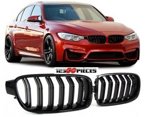 Grilles de calandre Noire Brillant Design M3 BMW serie 3 F30 + F31 depuis 2011->>