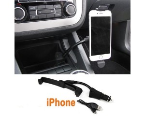 Support chargeur voiture iphone 5 / 5S / 6 / 6S allume cigare + USB