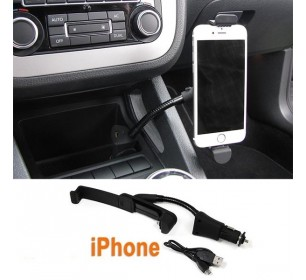 Support chargeur voiture iphone 5 / 5S / 6 / 6S allume cigare + USB - GO27885