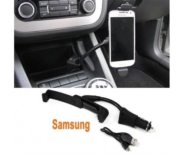 PROMO ! Support chargeur voiture Samsung allume cigare + USB