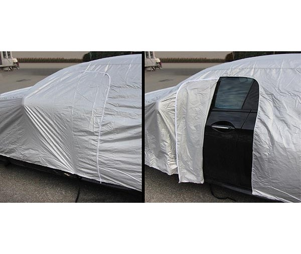 Promo b che de protection voiture housse nylon taille l 432x165x119 39 90 ext rieur pi ces - Housse voiture exterieur ...