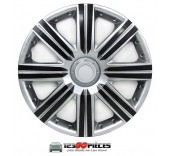 4 enjoliveurs de roues 15 pouces bâtons gris et noir