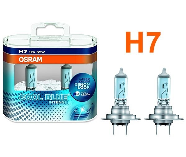 promo 2 ampoules h7 osram cool blue intense effet xenon. Black Bedroom Furniture Sets. Home Design Ideas