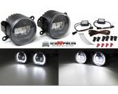 kit phares antibrouillards avants LED + feux de jour LED universel
