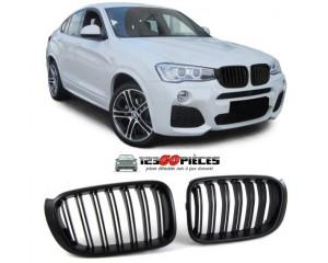grilles de calandre doubles barres (noir brillant) BMW X4 (F26) + X3 (F25) depuis 2014->>