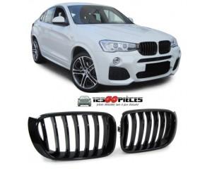 grilles de calandre (noir brillant) design Sport M BMW X3 F25 + BMW X4 (F26) depuis 2014->>