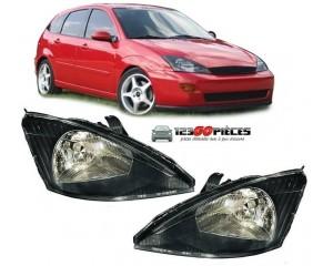Paire de phares avant (fond noir) Ford FOCUS 10/1998 au 11/2001