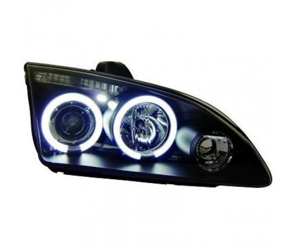 paire de phares angel eyes ccfl noir pour ford focus 2004 2008 279 90 pi ces design pi ces. Black Bedroom Furniture Sets. Home Design Ideas