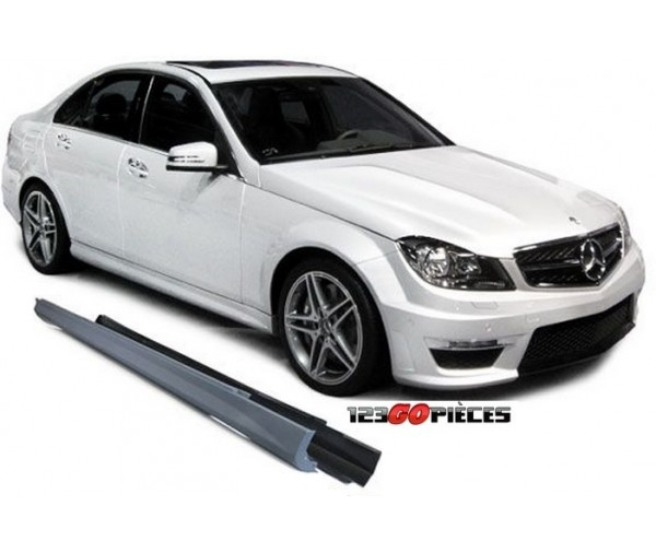 kit bas de caisse look c63 amg mercedes classe c w204 2007 2014 249 90 pi ces design pi ces. Black Bedroom Furniture Sets. Home Design Ideas