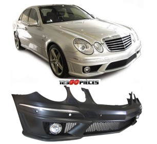 pare chocs avant design e63 amg mercedes classe e w211 2006 2009 499 90 pi ces design. Black Bedroom Furniture Sets. Home Design Ideas
